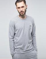 Boss By Hugo Boss Long Sleeve T-shirt In Regular Fit Grey