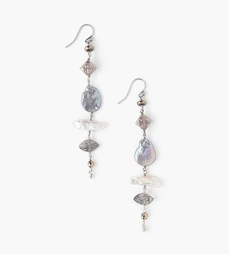 Chan Luu Tiered Pearl Mix Earrings
