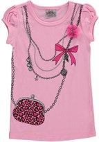 """Beautees Little Girls' """"Chain-Link Purse"""" T-Shirt"""