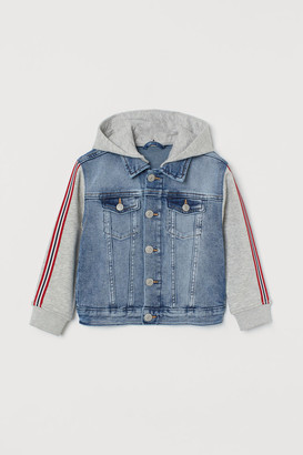 H&M Hooded Denim Jacket - Blue