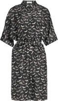 Nina Ricci Printed Silk Dress with Belt