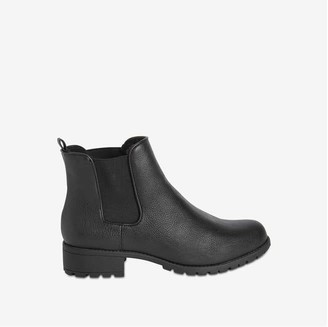Joe Fresh Women's Round Toe Chelsea Boots, Black (Size 8)