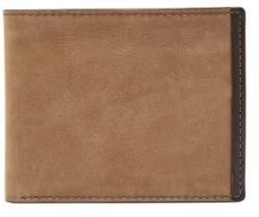 Fossil Cambon Rfid Traveler Wallet Dark Brown