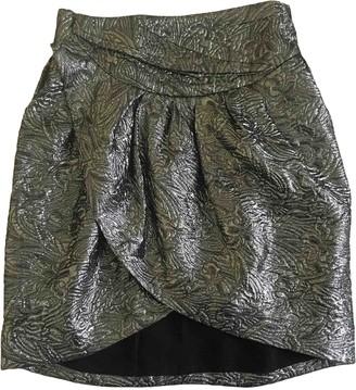 Isabel Marant Pour H&m Silver Silk Skirt for Women