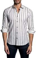 Jared Lang Trim Fit Stripe Sport Shirt