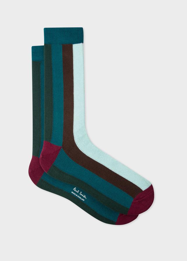 Men's Large Vertical 'Artist Stripe' Socks