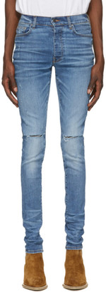 Amiri Blue Slash Jeans