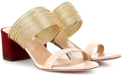 Aquazzura Rendez Vous 50 leather sandals