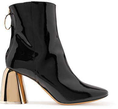Ellery Patent-leather Ankle Boots - Black