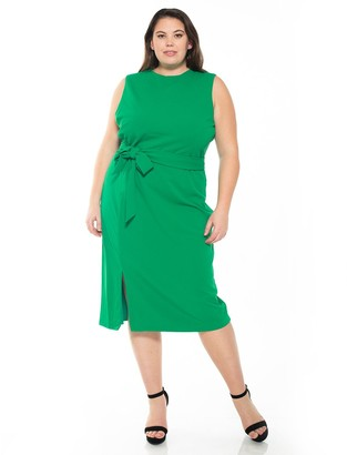 Alexia Admor Plus Size Serenity Side-Slit Sheath Dress