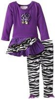 Bonnie Baby Baby-Girls Infant Zebra Corduroy Legging Set