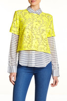 Elizabeth and James Carnie Layered Striped Blouse
