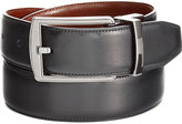 Perry Ellis Men's Leather Men's Leather Reversible Feather Stitch-Edge Belt