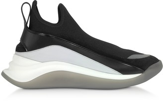 Sportmax Black High-Performance Futuristic Sneakers