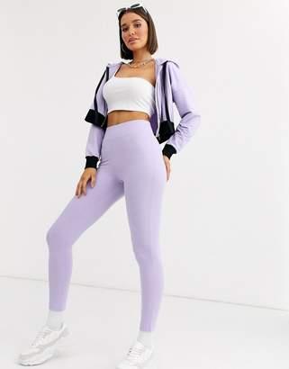 Asos Design DESIGN lounge travel high waisted legging-Purple