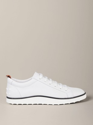 Tod's Sneakers In Leather With Rubber Sole