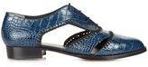 Robert Clergerie Ambro crocodile-effect leather shoes
