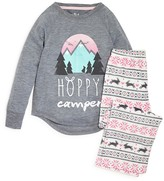PJ Salvage Girls' Hoppy Camper Pajama Set - Sizes 4-6