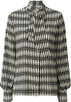 Lanvin tile patterned pussy bow blouse - women - Silk - 40