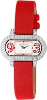 August Steiner Women's AS09R The Waldorf Swarovski Crystal Watch