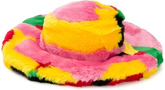 Kirin Colour Block Faux-Fur Hat