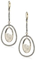 "Moritz Glik Kaleidoscope"" 18K Gold, Sterling Silver, Created Sapphire, and White Diamond Drop Earrings"
