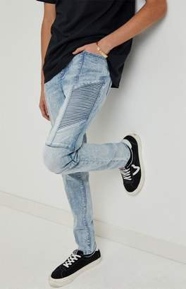 Pacsun PacSun Light Moto Stacked Skinny Jeans