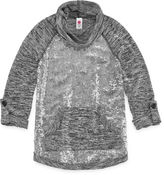 Total Girl 3/4 Sleeve Sequin Hoodie - Big Kid