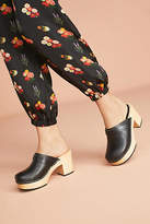 Swedish Hasbeens Louise Platform Mule Clogs