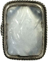 One Kings Lane Vintage Chinese Silver & Jade Ring