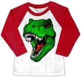 Micro Me White & Red T-Rex Raglan Tee - Toddler & Boys