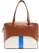 Tibi Papa leather and canvas tote