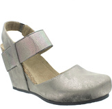 Pierre Dumas Distressed Pewter Enya Wedge