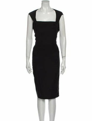 Zero Maria Cornejo Silk Knee-Length Dress Black