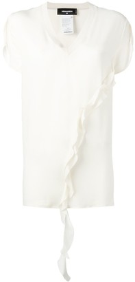 DSQUARED2 ruffle detail top