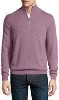 Neiman Marcus Cashmere Half-Zip Sweater