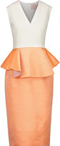Roksanda Philippa color-block wool-blend peplum midi dress
