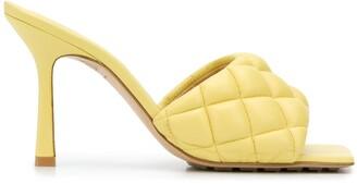 Bottega Veneta Padded Quilted 100mm Sandals