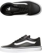 Vans Kids Old Skool Leather Shoe Black