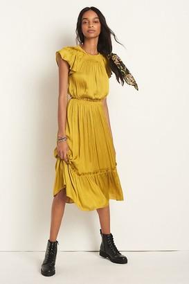 Current Air Dodie Flutter-Sleeved Midi Dress