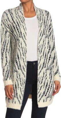 Love Token Abstract Print Knit Cardign