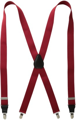 Status Men's Suspenders 11/4 Inch Poly Elastic 46 Inch Drop Clip
