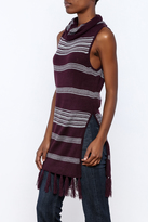 BB Dakota Fringe Sleeveless Sweater
