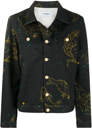 Casablanca Constellation denim jacket