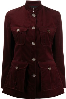 Temperley London Multi-Pocket Mock-Neck Jacket