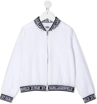 Karl Lagerfeld Paris Ceremony organza bomber jacket