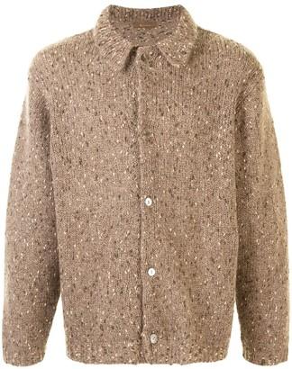Yohji Yamamoto Pre Owned Buttoned Chunky Knit Cardigan