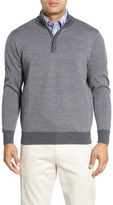 Peter Millar Quarter Zip Merino Wool Sweater