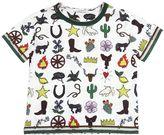 Dolce & Gabbana Cowboy Printed Cotton Jersey T-Shirt