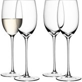 LSA International 340 ml Wine White Glass, Clear (Pack of 4)
